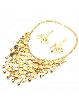 Fashion Necklaces & Pendants Bohemian Gypsy Gold Plated Color Coin Necklace for Women Statement Choker Collier Boho Jewelry