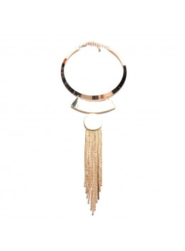 2016 Boho Waterfall Long Chain Tassel Necklace ZA Punk Torques Choker Women Exaggerated Accessory Statement Necklaces Pendants