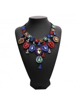 Vintage Jewelry Wholesale Maxi Necklace 2017 New Design Fashion Multicolor Statement necklaces & pendants for women 12 Colors