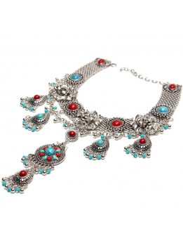 Latest Fashion choker Alloy Statement long Bohemian necklaces & pendants Vintage gypsy ethnic maxi Necklace Women fine Jewelry