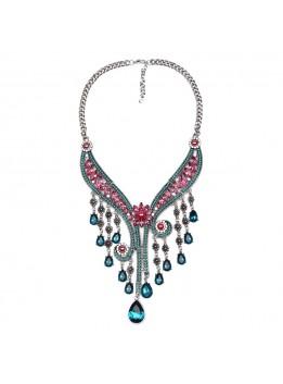 2016 New Design Retro Fashion Crystal Pendants Necklaces Statement Necklaces & Pendants Vintage Bohemian Turkish Jewelry